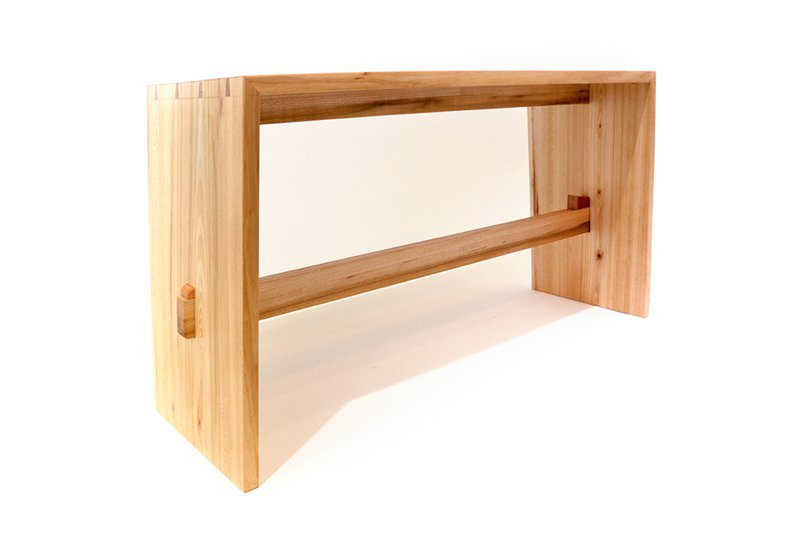 Bookmatched bench slow wood treniq 1