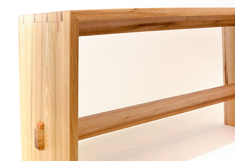 Bookmatched bench slow wood treniq 3