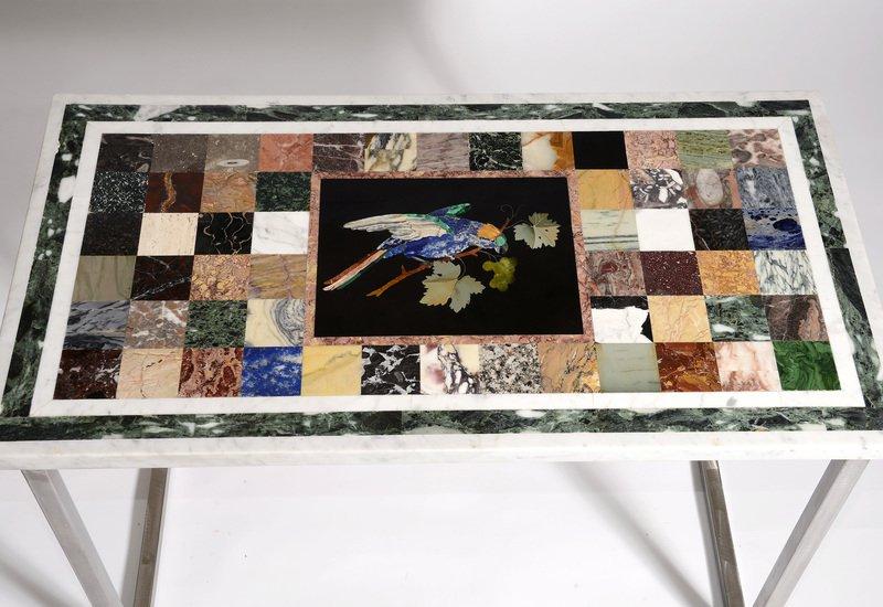 Pietra dura parrot table hurley treniq 3