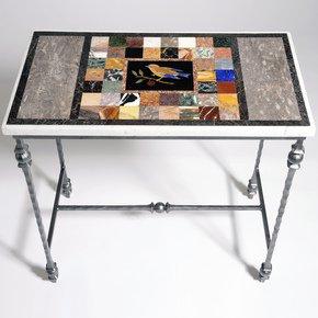 Pietra Dura Small Bird Table - Hurley - Treniq