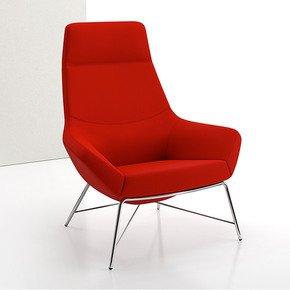 Bing High Back Luxe Lounge Tubular - Decca - Treniq