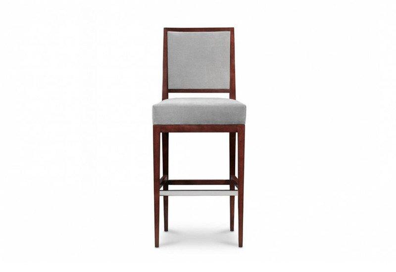 Rosenau upholstered back bar stool decca treniq 1