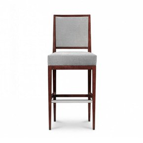 Rosenau Upholstered Back Bar Stool - Decca - Treniq