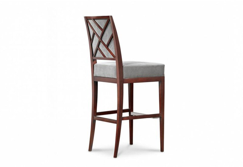 Rosenau upholstered back bar stool decca treniq 2