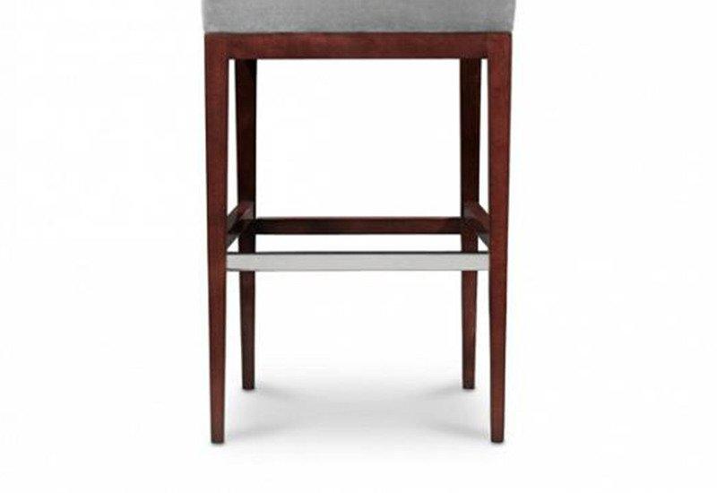 Rosenau upholstered back bar stool decca treniq 4