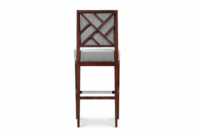 Rosenau upholstered back bar stool decca treniq 5