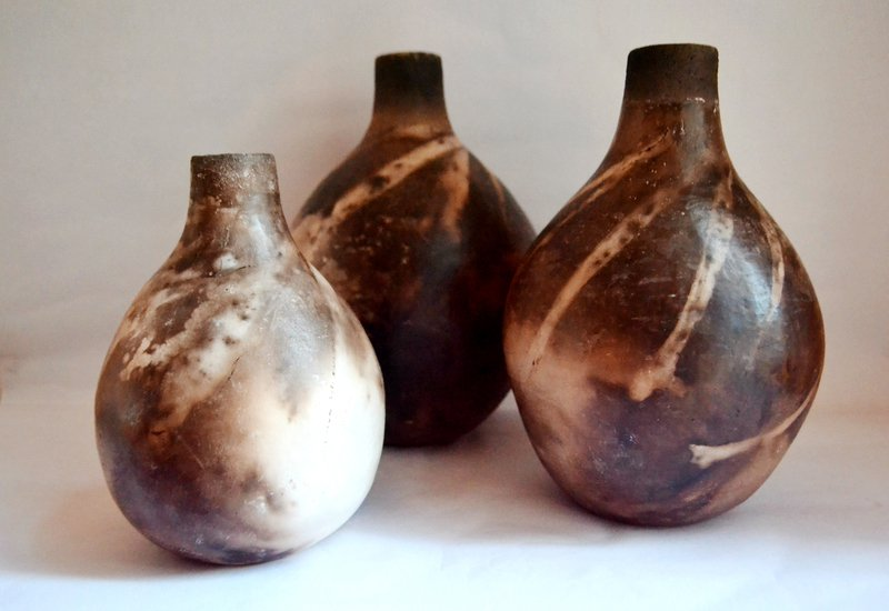 Linea Black Browncream Ceramic Rustic Vases Bowls Treniq
