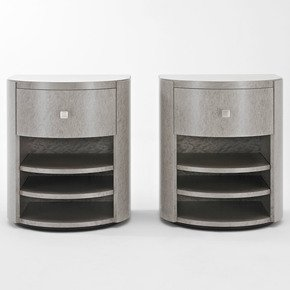 Arc-Bedside-Table-Drum-Shape_Black-And-Key_Treniq_0