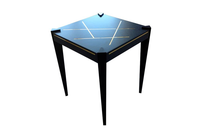 Callisto side table black and key treniq 1