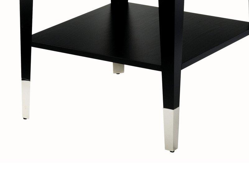 Roger lamp table with shelf black and key treniq 3