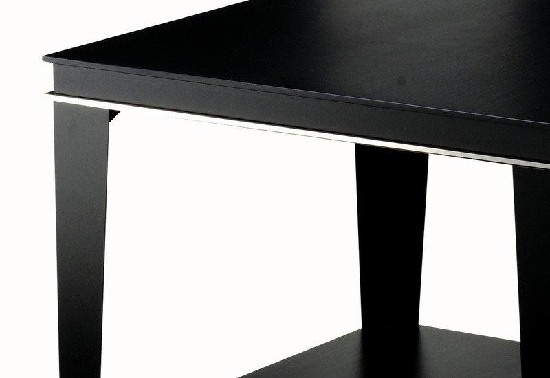 Roger lamp table with shelf black and key treniq 4