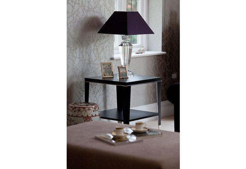 Roger lamp table with shelf black and key treniq 5