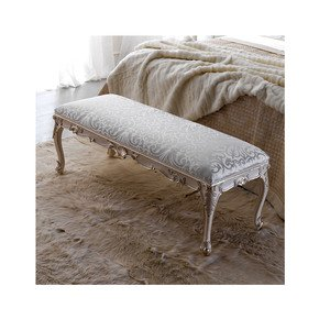 Classic Rococo Style Upholstered Bench - Juliette's Interiors - Treniq