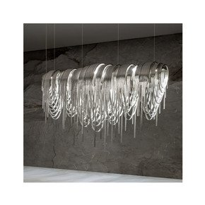Contemporary Glamorous Rectangular Chain Chandelier Jennifer Manners - Treniq