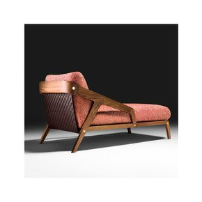 Contemporary Walnut Italian Designer Chaise Longue - Jennifer Manners