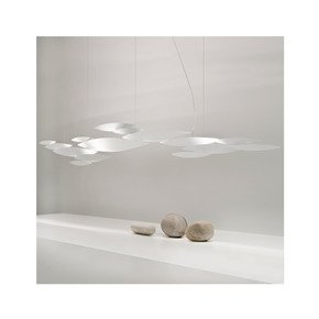 Contemporary White Metal Pendant Light - Jennifer Manners - Treniq