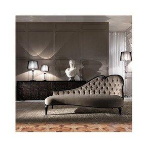 Designer Italian Button Upholstered Modern Chaise Longue - Jennifer Manners - Treniq