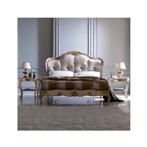 Italian Designer Button Upholstered Winged Bed - Jennifer Manners - Treniq
