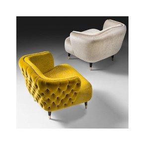 Italian Designer Velvet Tub chair - Jennifer Manners - Treniq