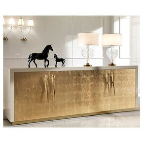 Large High End Gold Leaf Sideboard - Jennifer Manners - Treniq