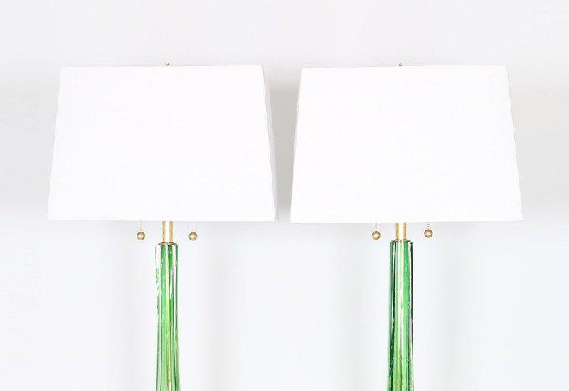 Murano green and gold lamps sergio jaeger treniq 2
