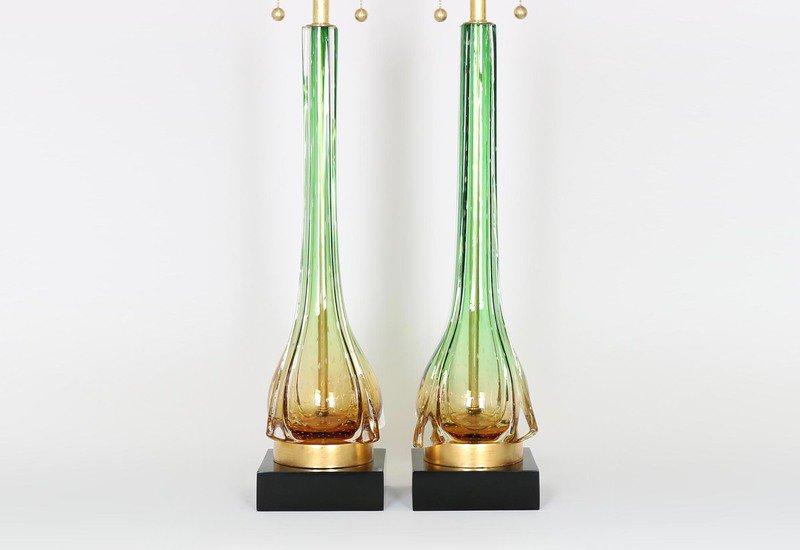Murano green and gold lamps sergio jaeger treniq 5