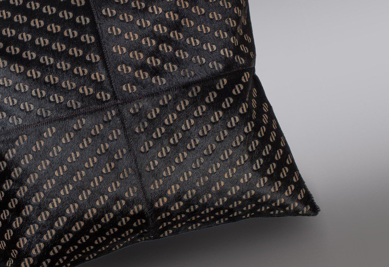 Pitch black hide cushion casa botelho treniq 3