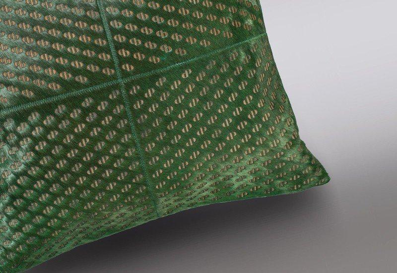 Seaweed green hide cushion casa botelho treniq 3