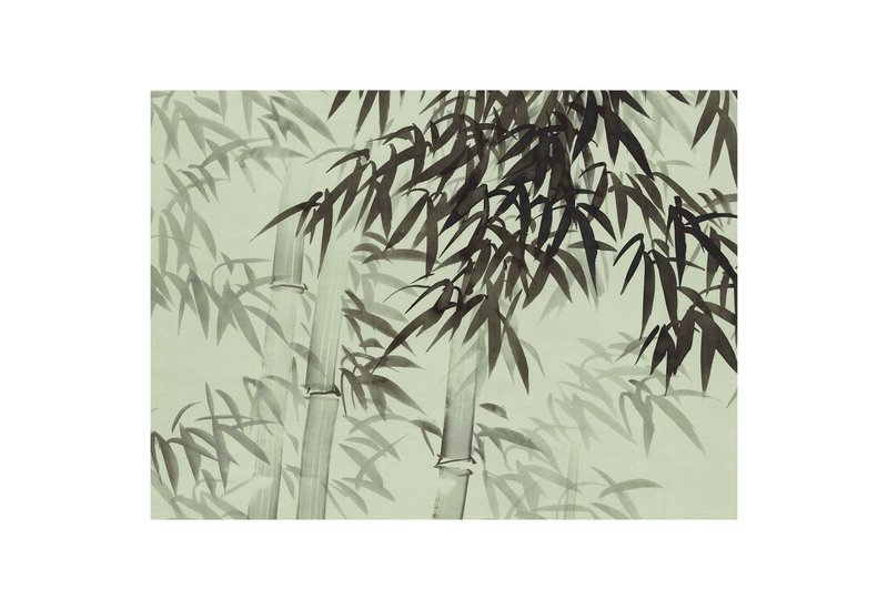 Bamboo forest green panel mural sources treniq 1