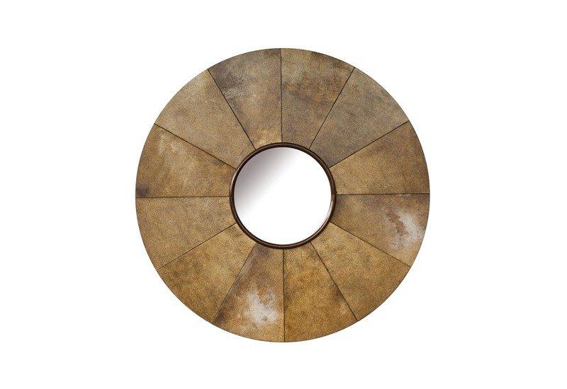 Parchment sunburst mirror normandie woodworks treniq 1
