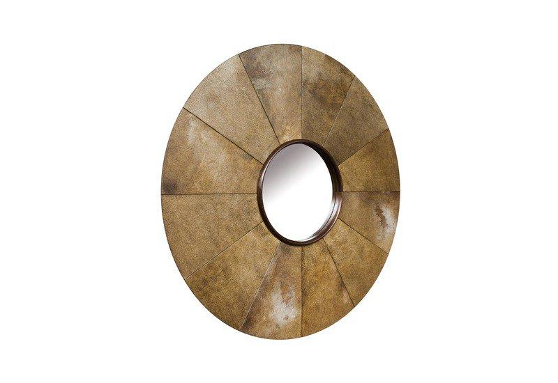 Parchment sunburst mirror normandie woodworks treniq 2