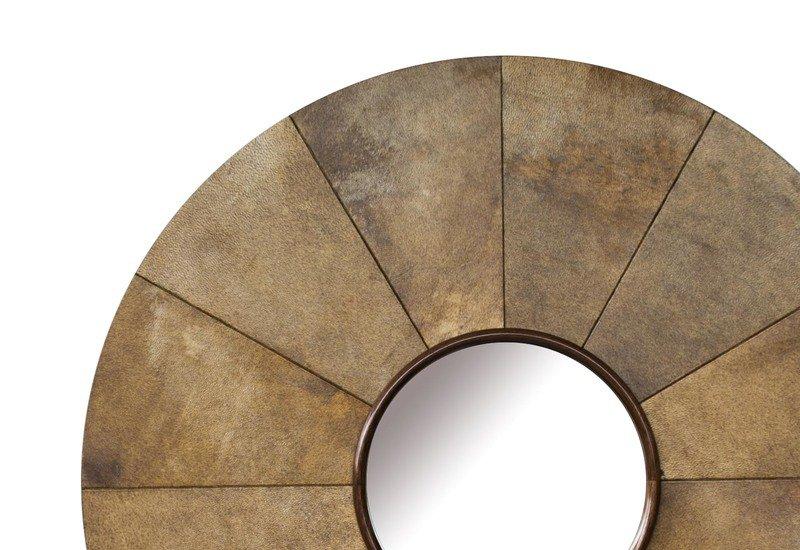 Parchment sunburst mirror normandie woodworks treniq 3