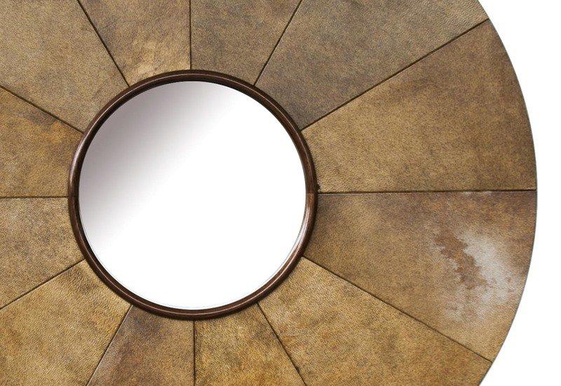 Parchment sunburst mirror normandie woodworks treniq 4