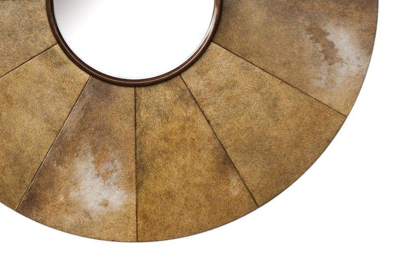 Parchment sunburst mirror normandie woodworks treniq 5