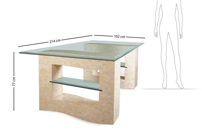 Creme dining table farrago treniq 6