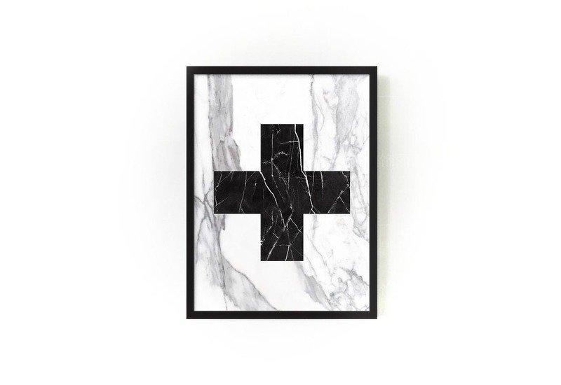 Marble cross wallart mikol treniq 1