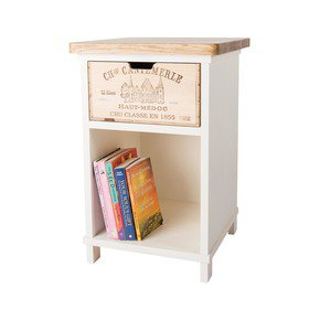 Bedside Table Drawer I - Bois Rustique - Treniq