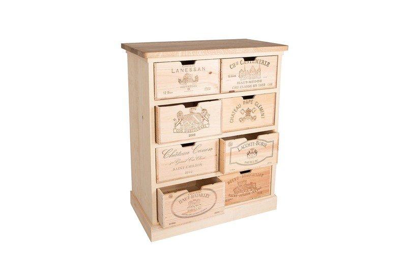 Chest of drawers bois rustique treniq 1