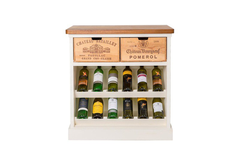 Wine rack i bois rustique treniq 1