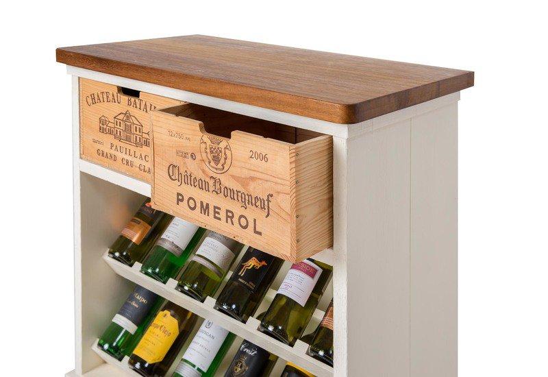 Wine rack i bois rustique treniq 2