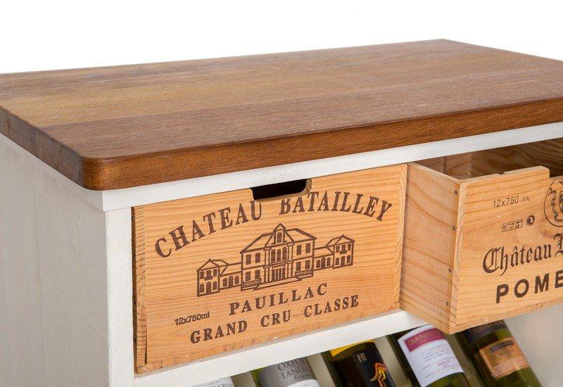 Wine rack i bois rustique treniq 3