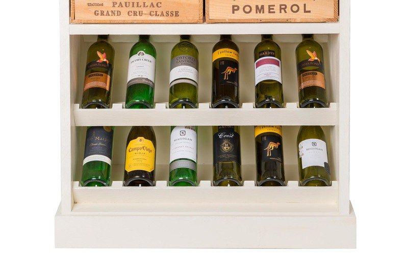 Wine rack i bois rustique treniq 4