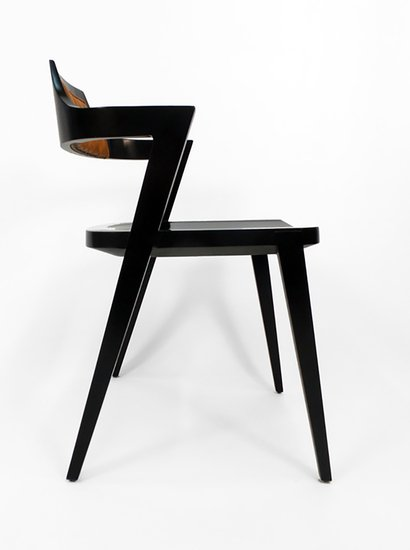Victoria   son stacking chair r813 leather lacquer custom modern profile