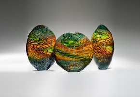 Kilmt Landscape Sculpture - London Glassblowing - Treniq
