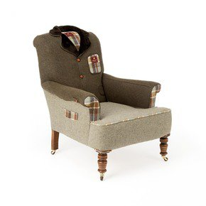 Country Tweed Armchair - Rhubarb London - Treniq