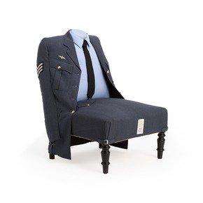 Royal Air Force Uniform Armchair - Rhubarb London - Treniq