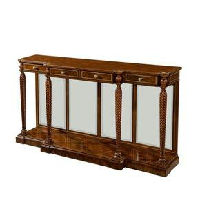 Fine Regency Rosewood Mirror Back Console Server