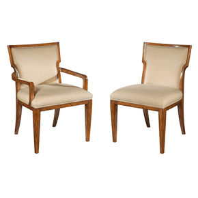 Set of Modern Mahogany Dining Chairs