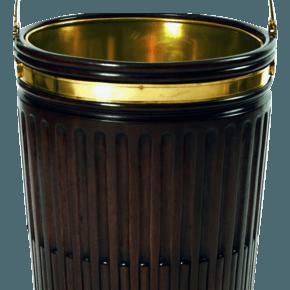 Fluted Mahogany Peat Bucket
