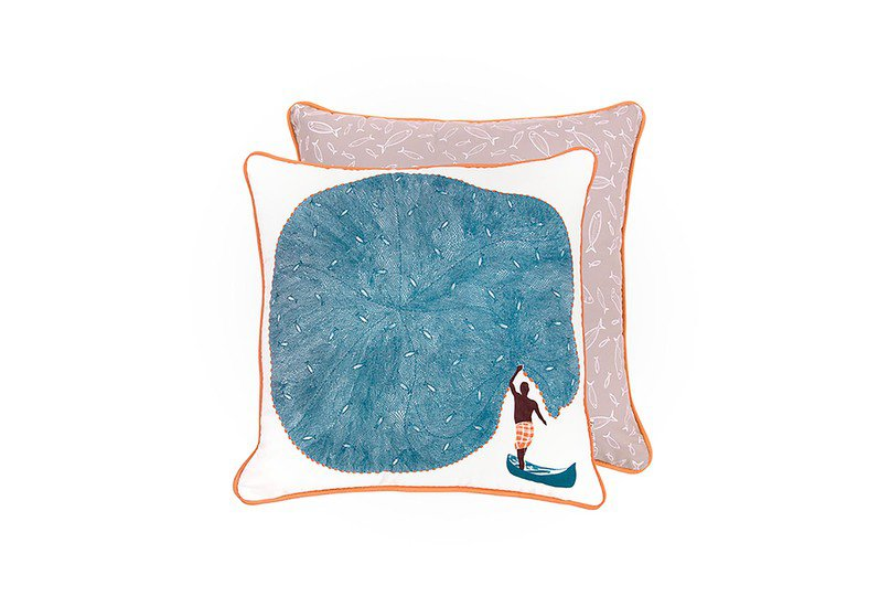 Catch of the day cushion the elephant stamp treniq 1